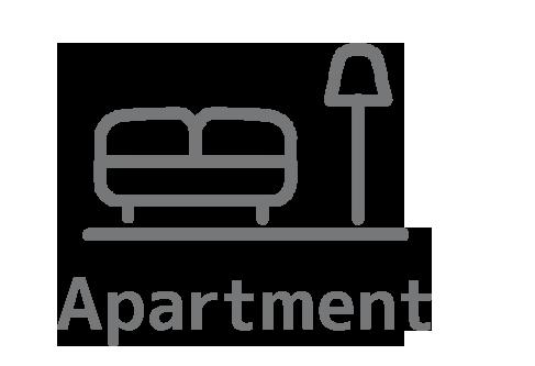 家具付きアパート英
